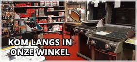Kom langs in onze winkel - Weber barbecues
